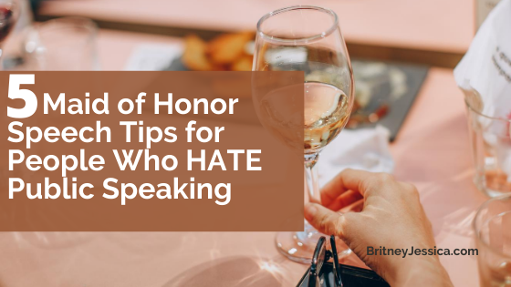 Short Maid of Honor Speech Tips for maid of honors afraid of public speaking